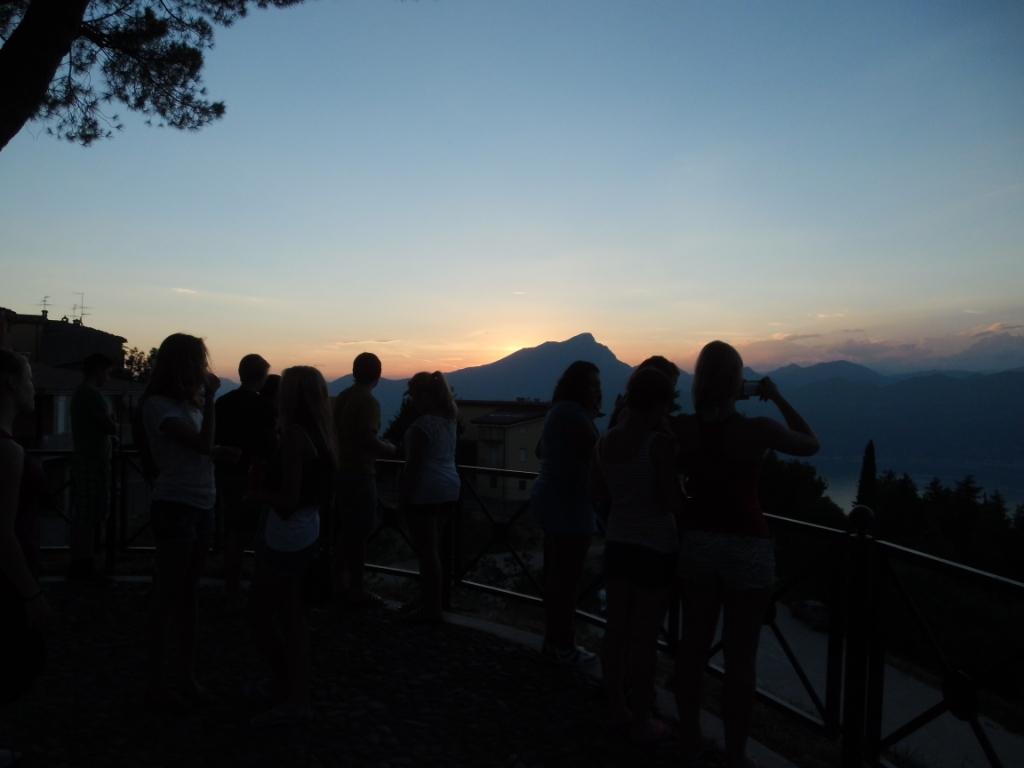 Bildunterschrift Sonnenuntergang in San Zeno di Montagna