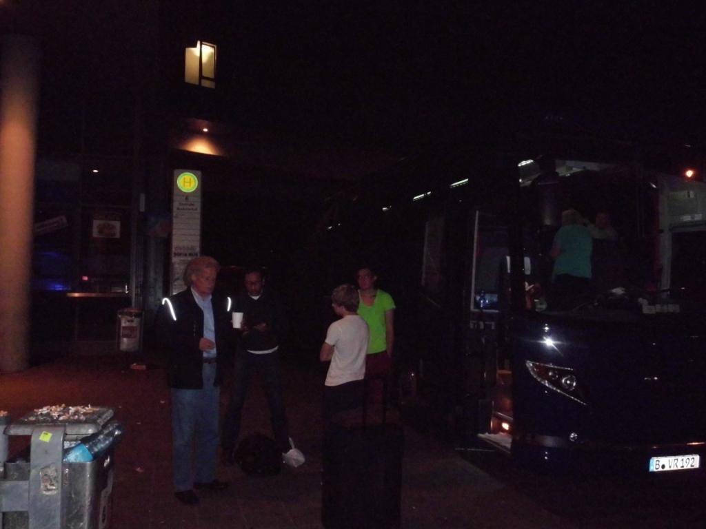 Abschied vom Busfahrer in Nürnberg