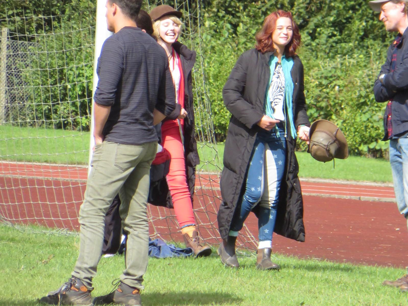 Bibi Und Tina Dreh Auf Dem Sportplatz Auenwaldschule