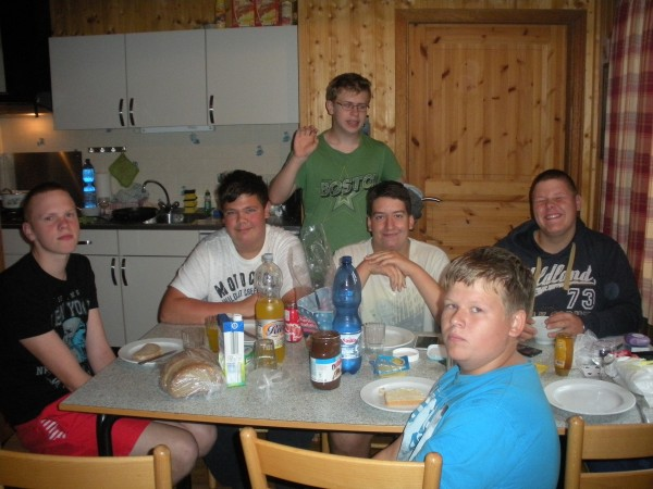 Jens, Lars, Nils, Xaver, Klaas und Alex