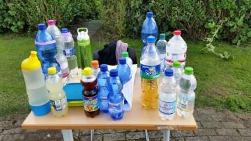 Schnell noch die Wasserflasche auffüllen
